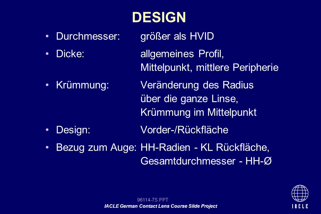 96114-18S.PPT IACLE German Contact Lens Course Slide Project Picture Placement Holder