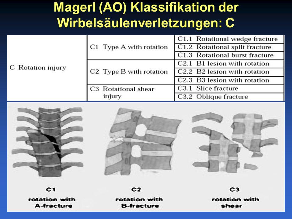 Magerl (AO) Klassifikation der Wirbelsäulenverletzungen: C