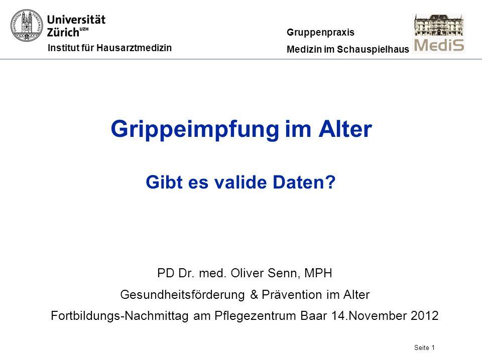 Seite 12 Schutz vor Grippe: Jung & Gesund Jefferson T et al.