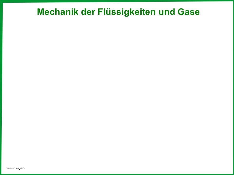 www.cc-agri.de Mechanik der Flüssigkeiten und Gase