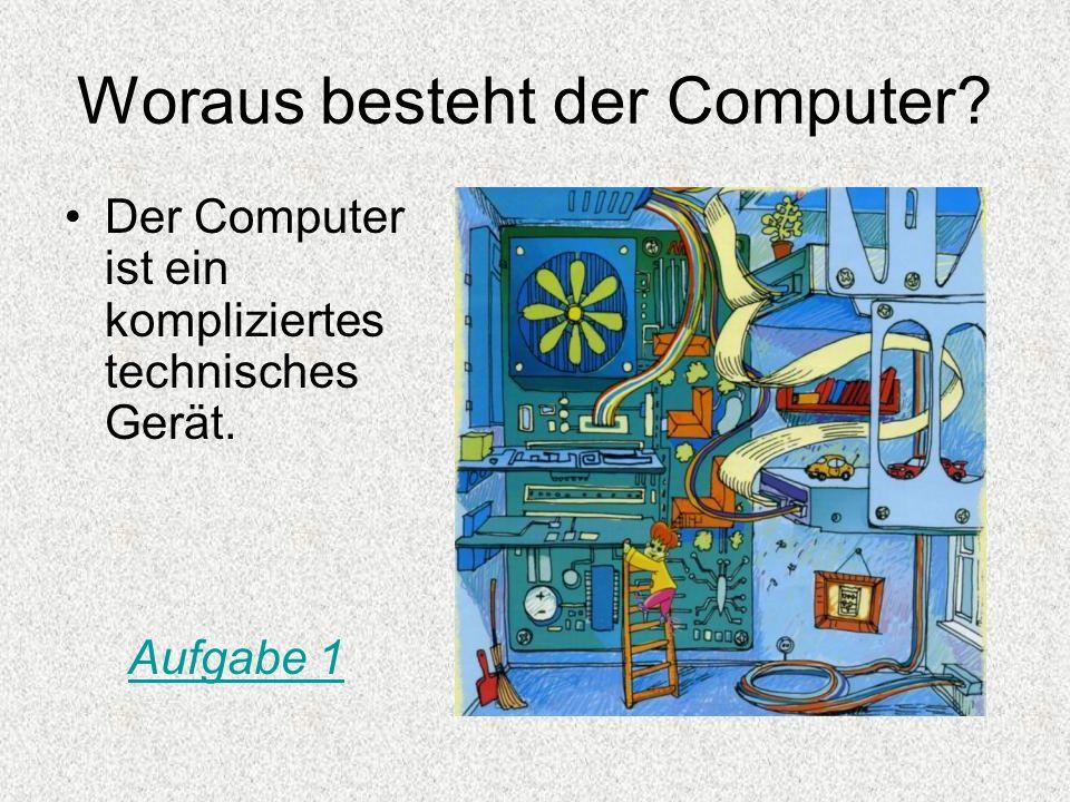 Was kann man mit Hilfe des Computers machen.Mit Hilfe des Computers kann man vieles machen.