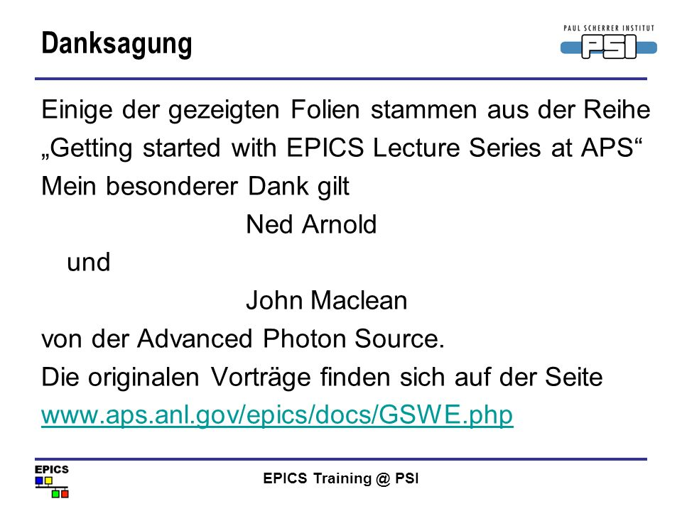 EPICS Training @ PSI Was ist ein Record.
