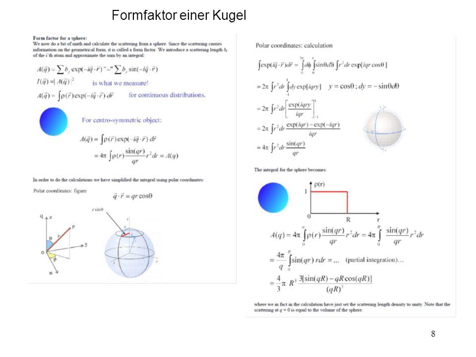8 Formfaktor einer Kugel