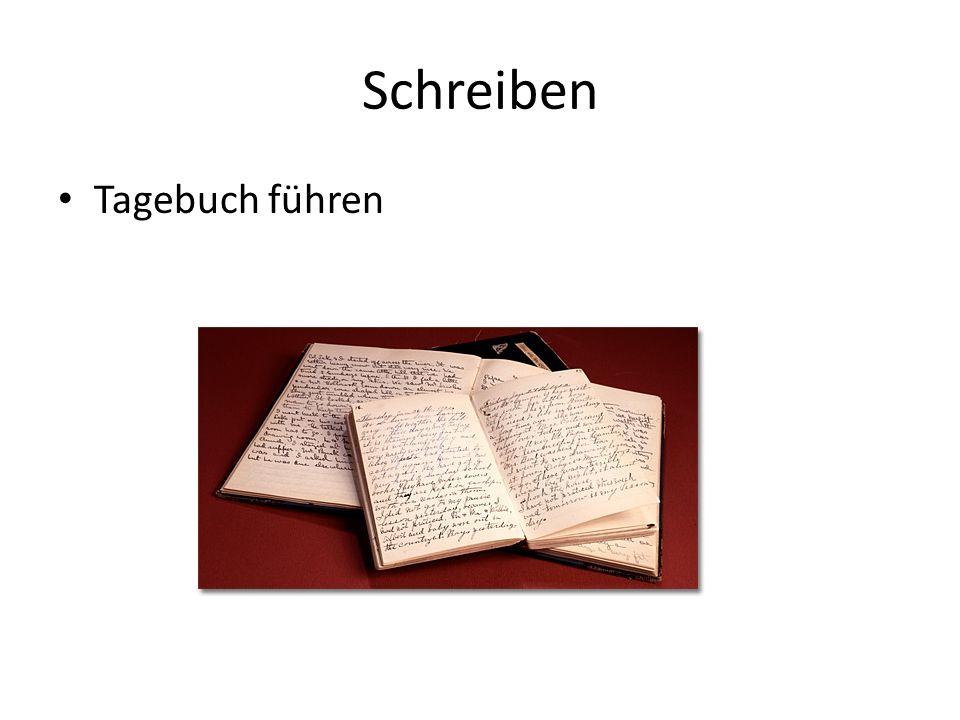 Schreiben Tagebuch führen