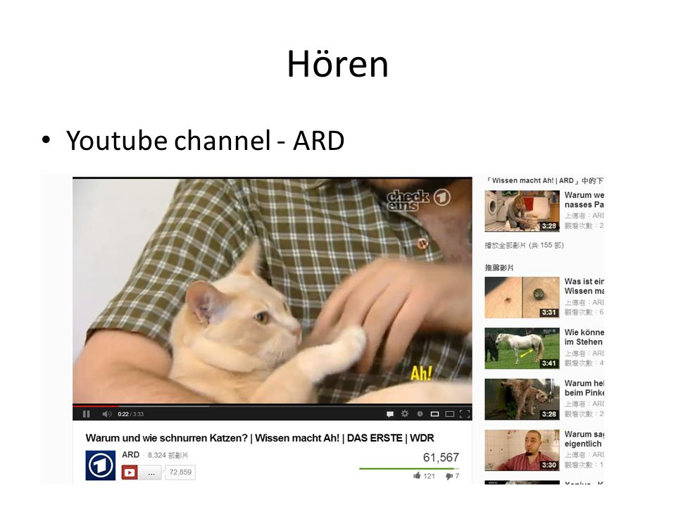 Hören Youtube channel - ARD