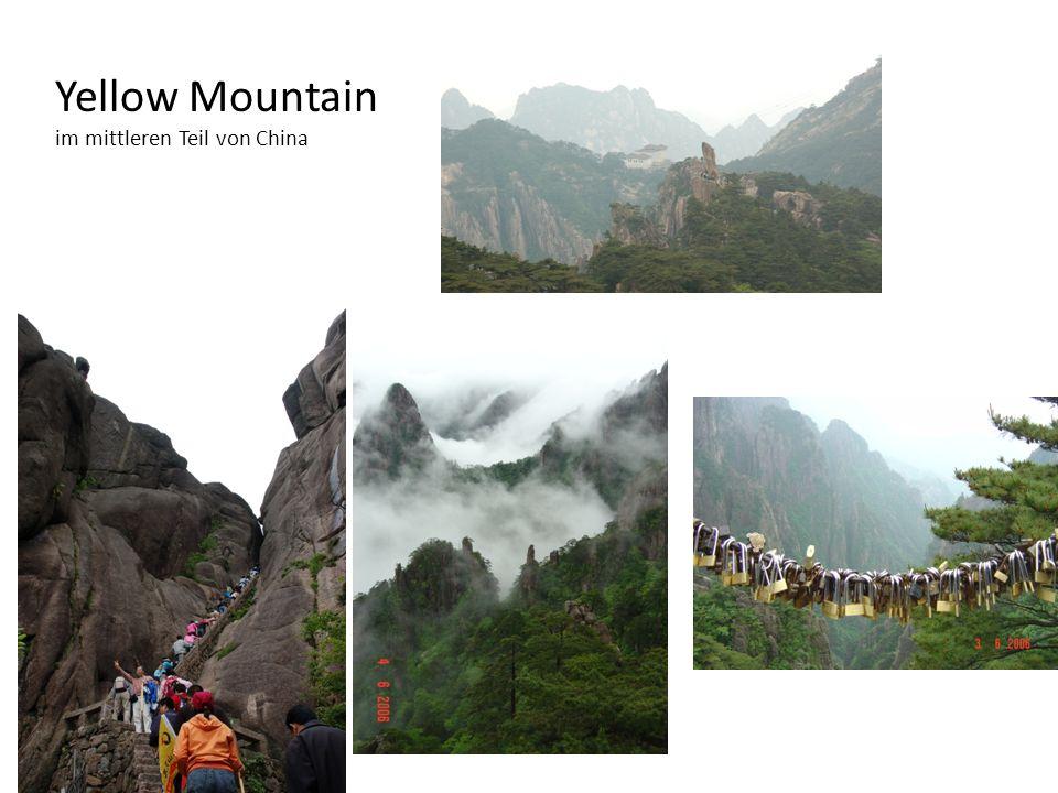 Yellow Mountain im mittleren Teil von China