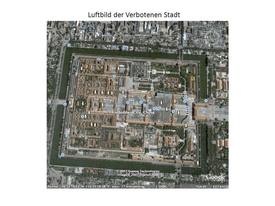 Luftbild der Verbotenen Stadt