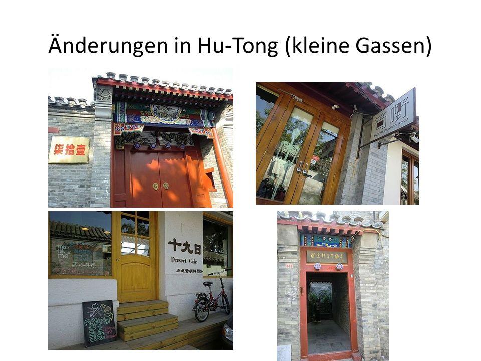 Änderungen in Hu-Tong (kleine Gassen)