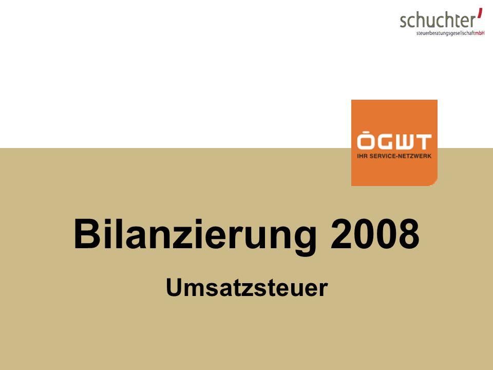Steuerupdate 2007 Bilanzierung 2008 Umsatzsteuer