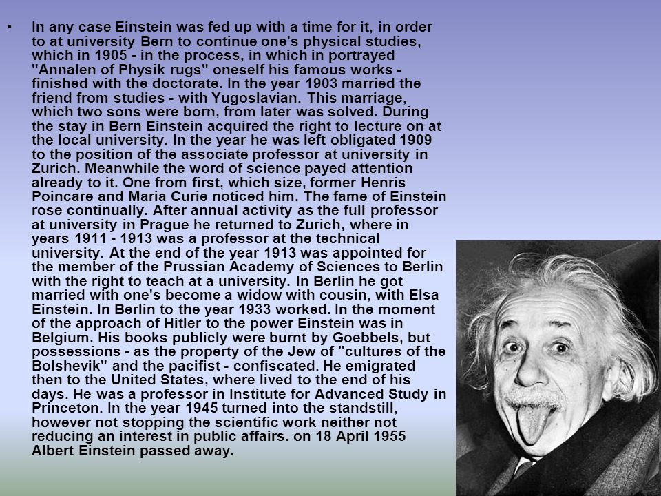 In any case Einstein was fed up with a time for it, in order to at university Bern to continue one's physical studies, which in 1905 - in the process,