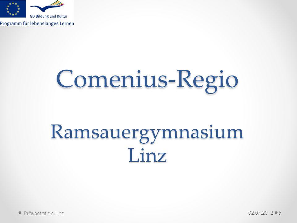 Präsentation Linz Comenius-Regio Ramsauergymnasium Linz 02.07.20125