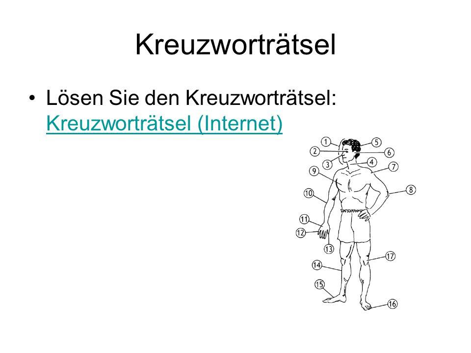 Kreuzworträtsel Lösen Sie den Kreuzworträtsel: Kreuzworträtsel (Internet) Kreuzworträtsel (Internet)