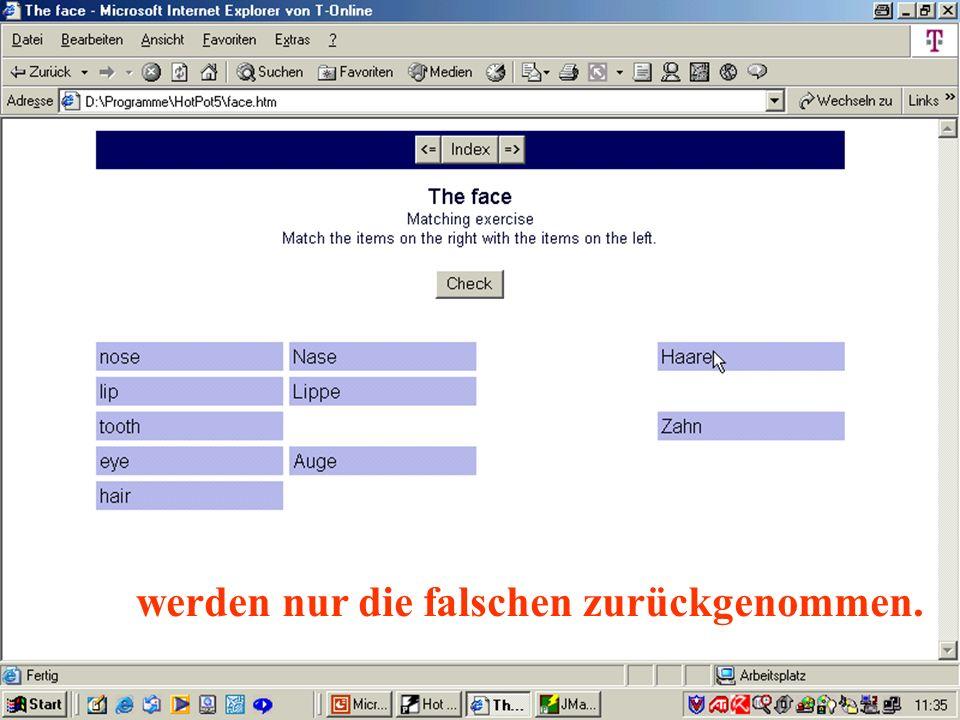Peter Wolfgang 2002 werden nur die falschen zurückgenommen.