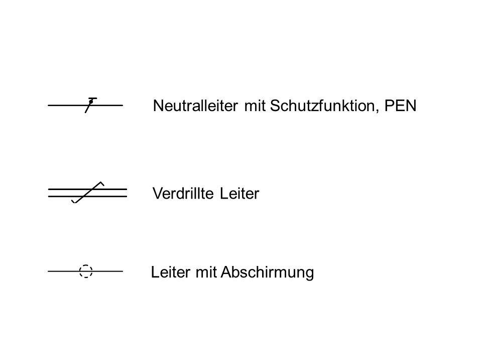 Drehstromkreis, Drehstromleitung Flexibler Leiter 3-phasige Leitung mit Neutral- und Schutzleiter