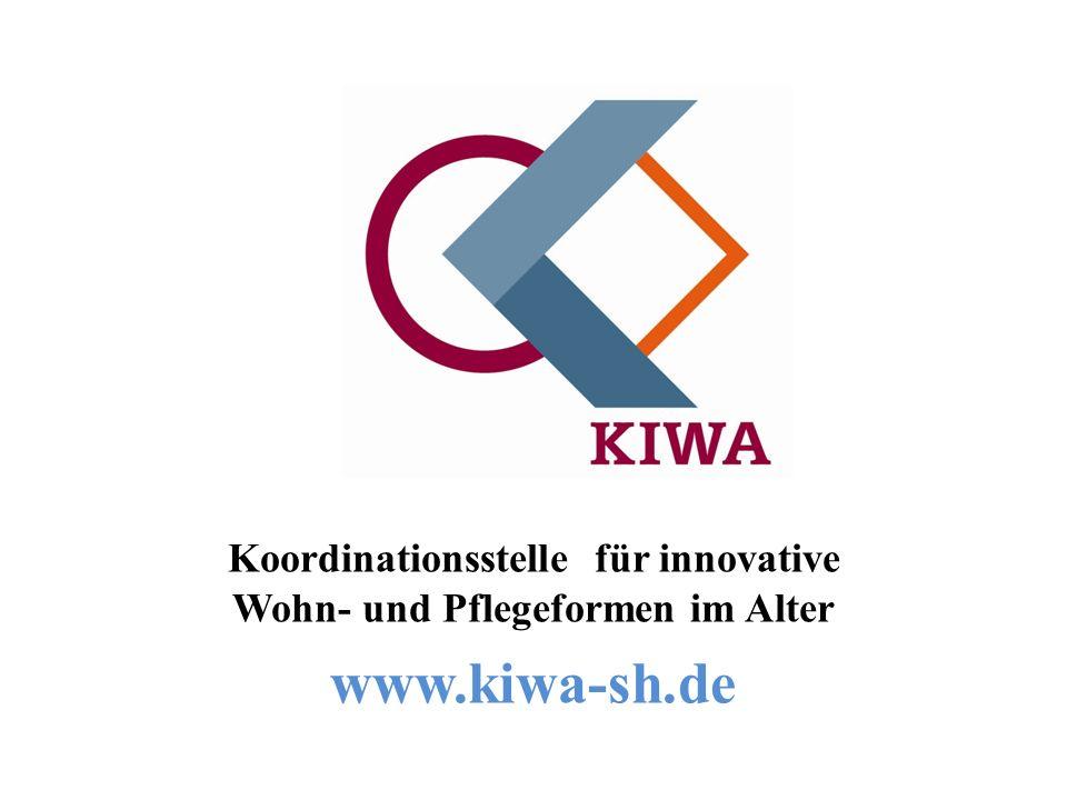 KIWA 2010 Koordinationsstelle für innovative Wohn- und Pflegeformen im Alter www.kiwa-sh.de