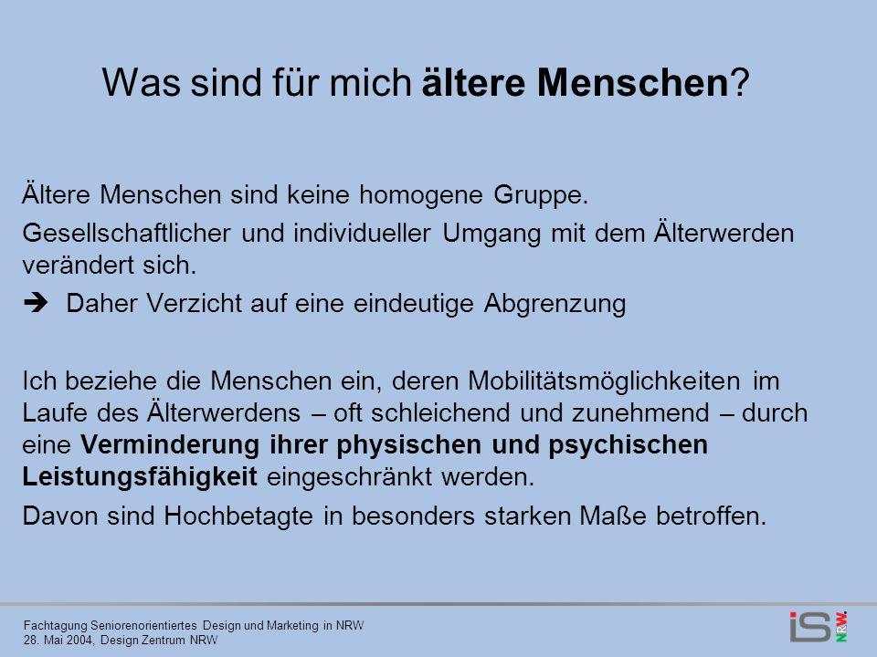Fachtagung Seniorenorientiertes Design und Marketing in NRW 28.