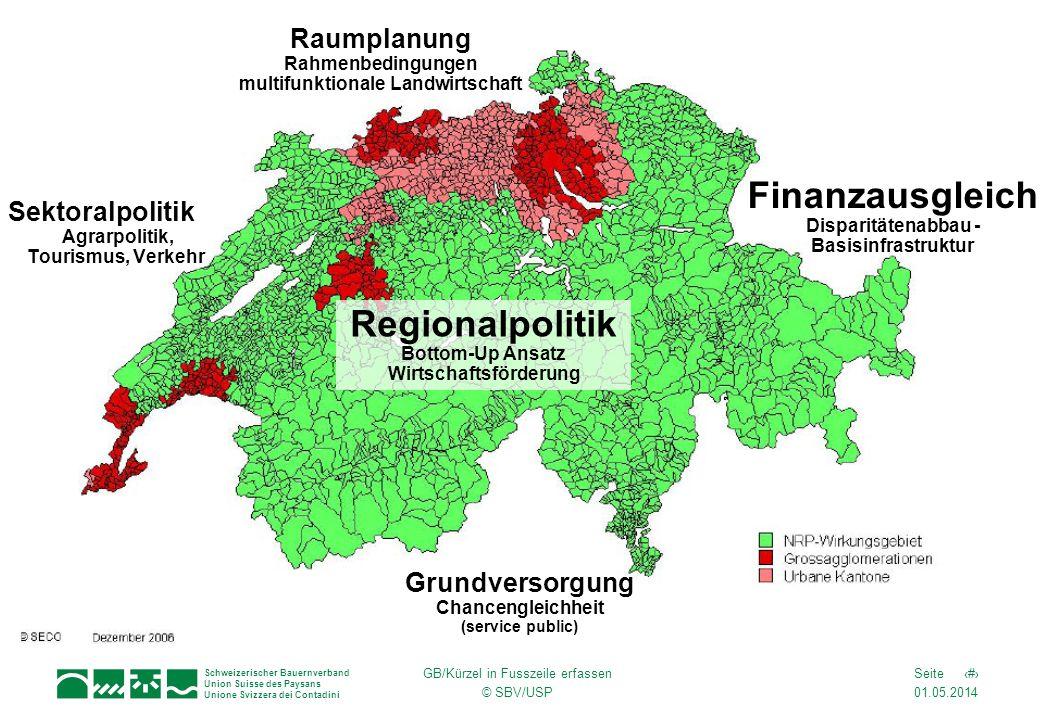 01.05.2014 1Seite Schweizerischer Bauernverband Union Suisse des Paysans Unione Svizzera dei Contadini GB/Kürzel in Fusszeile erfassen © SBV/USP Sekto