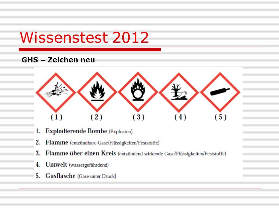 GHS – Zeichen neu Wissenstest 2012