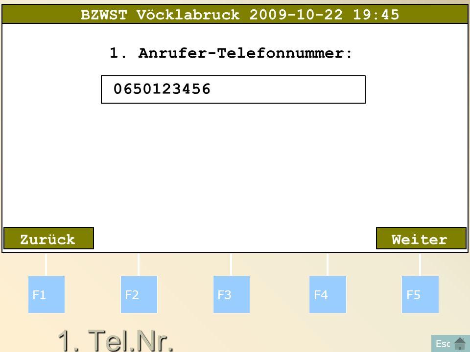 2.Adresse F1F2F3F4F5 Esc WeiterZurück 2.