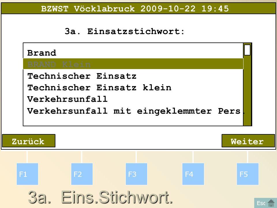 3a. Eins.Stichwort. F1F2F3F4F5 Esc WeiterZurück 3a.