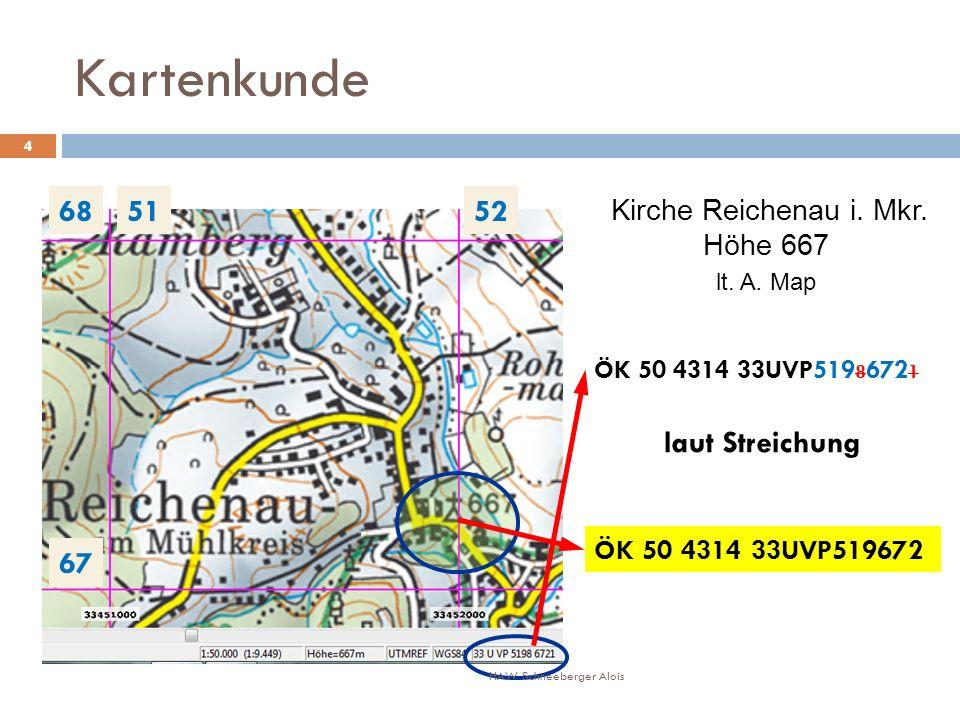 Kartenkunde 5152 67 68 ÖK 50 4314 33UVP519 8 672 1 ÖK 50 4314 33UVP519672 laut Streichung Kirche Reichenau i.