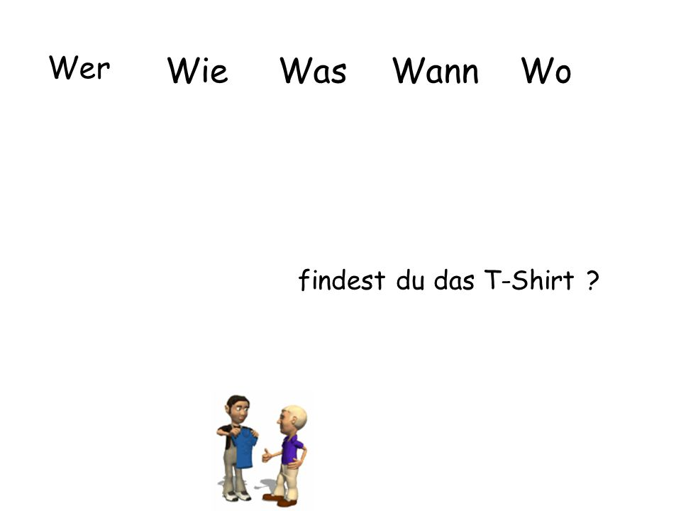 Wer WieWasWannWo findest du das T-Shirt ?