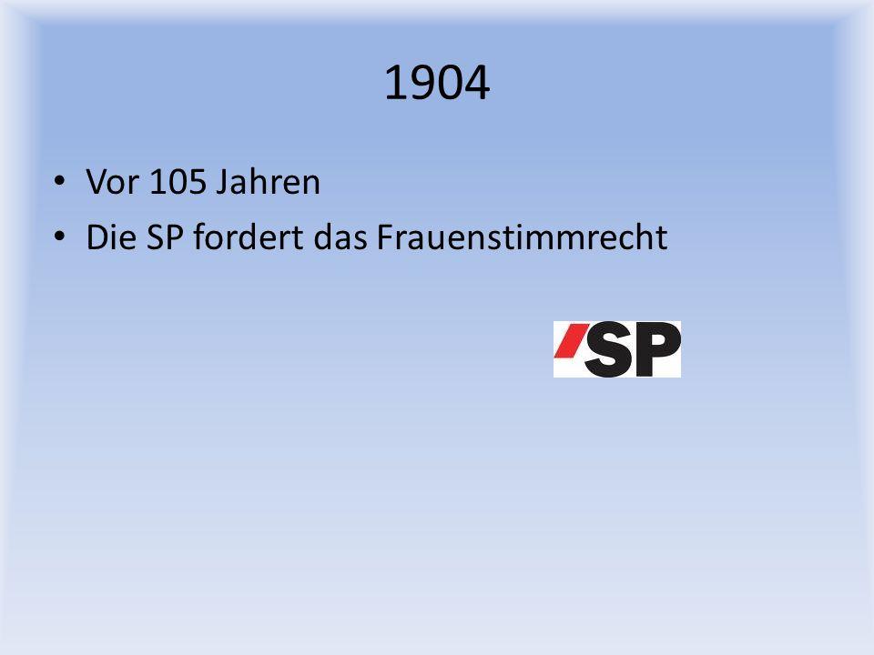 1989 Vor 20 Jahren Appenzell Ausserrhoden hat das Frauenstimmrecht beschlossen. Endlich!