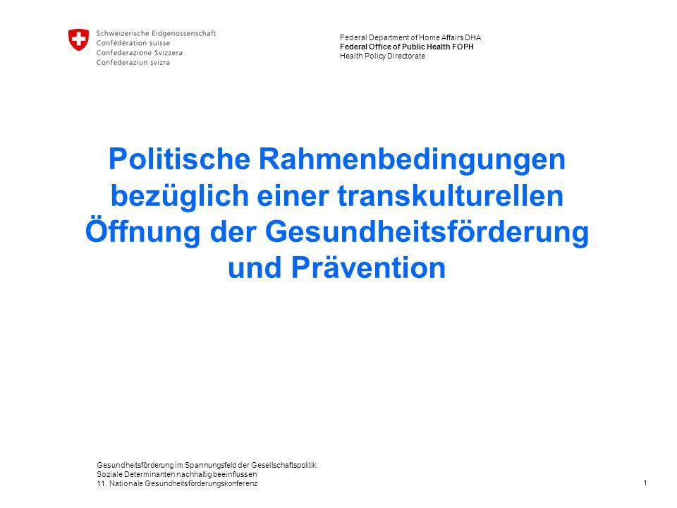 Gesundheitsförderung im Spannungsfeld der Gesellschaftspolitik: Soziale Determinanten nachhaltig beeinflussen 11.