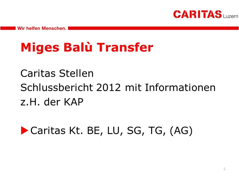 4 Miges Balù Transfer Caritas Stellen Schlussbericht 2012 mit Informationen z.H.