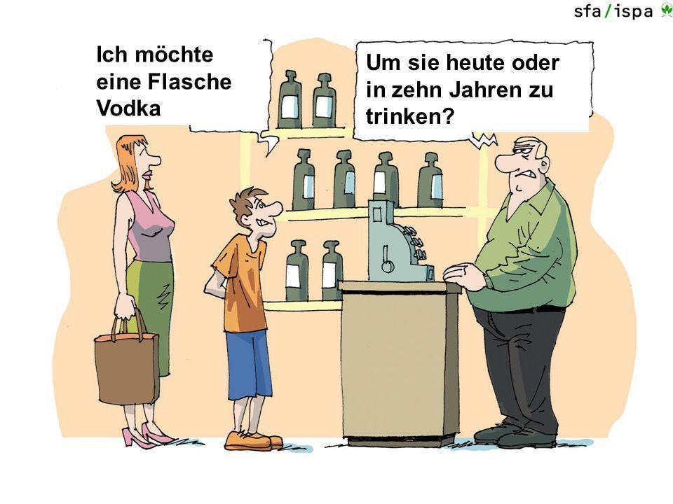 Ich möchte eine Flasche Vodka Um sie heute oder in zehn Jahren zu trinken?