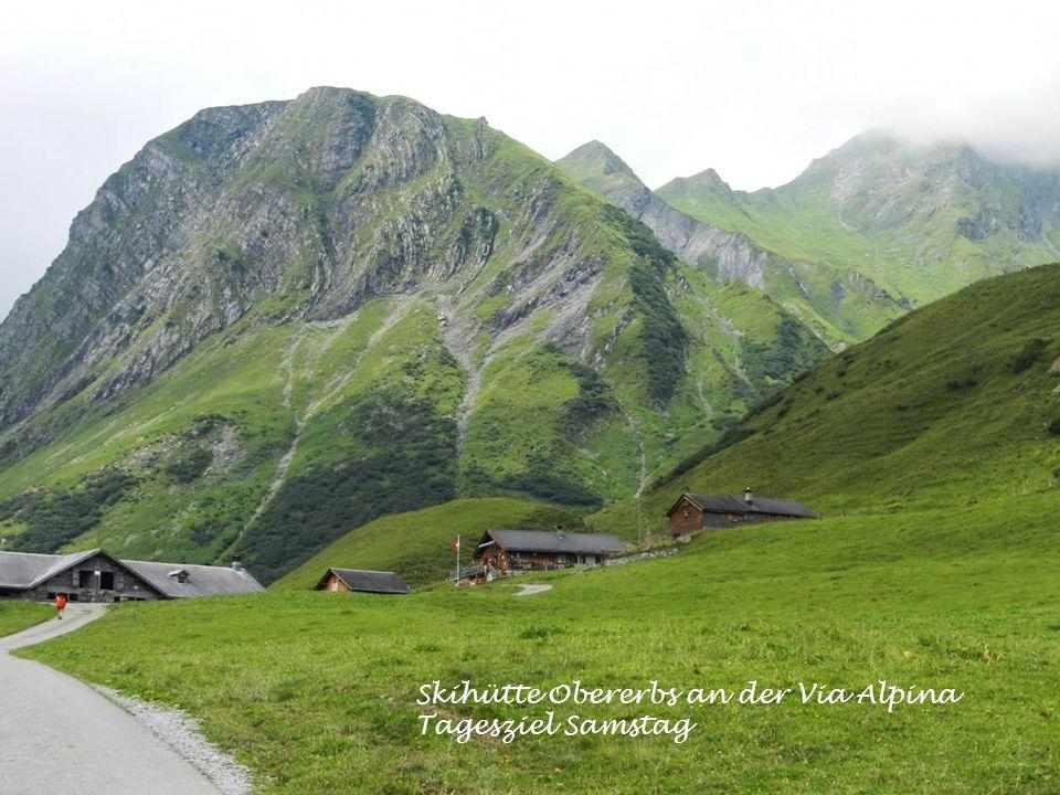 Skihütte Obererbs an der Via Alpina Tagesziel Samstag