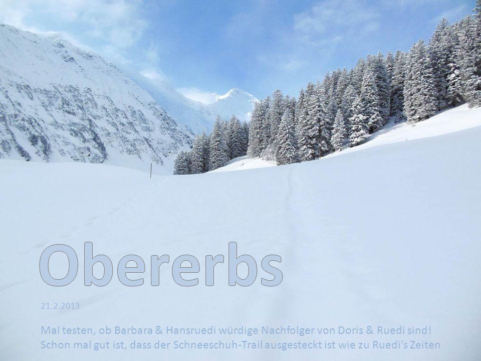 21.2.2013 Mal testen, ob Barbara & Hansruedi würdige Nachfolger von Doris & Ruedi sind.