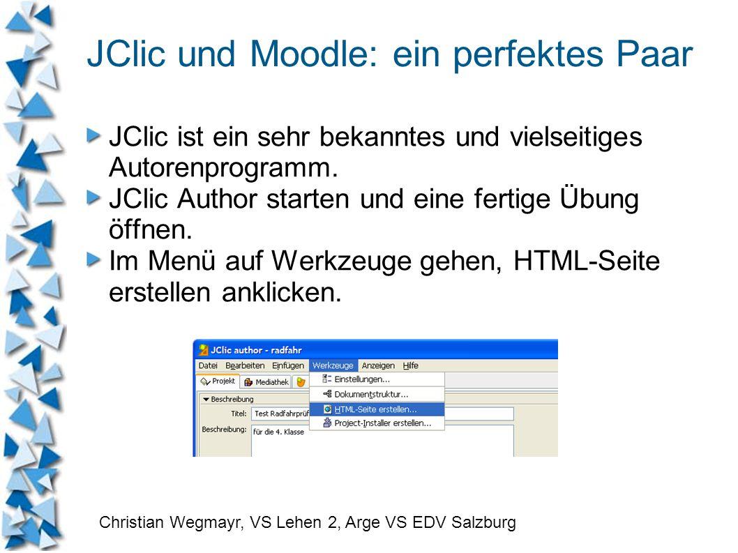 JClic und Moodle: ein perfektes Paar JClic ist ein sehr bekanntes und vielseitiges Autorenprogramm. JClic Author starten und eine fertige Übung öffnen