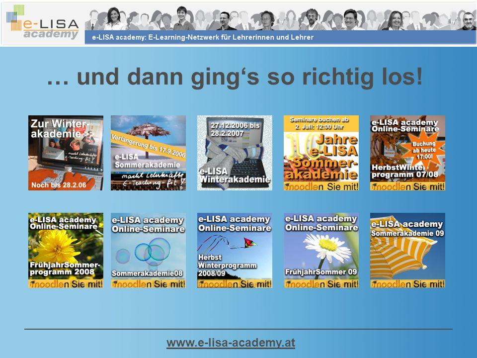 www.e-lisa-academy.at … und dann gings so richtig los!