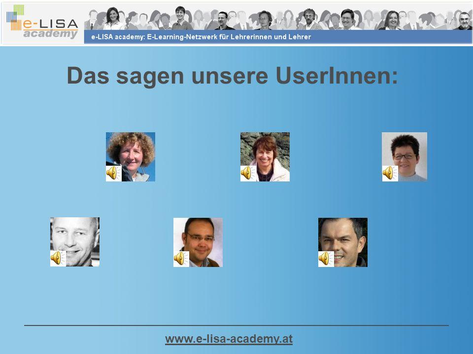 www.e-lisa-academy.at Das sagen unsere UserInnen: