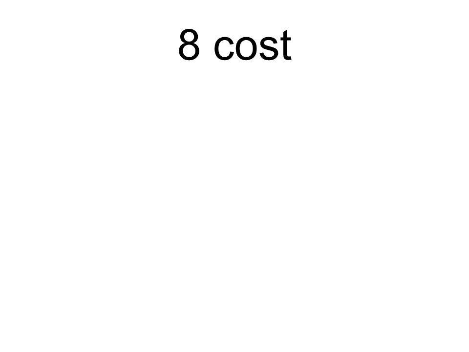 8 cost