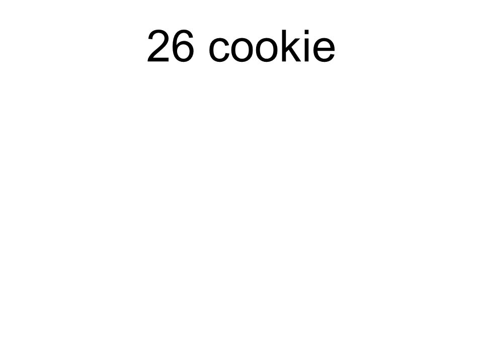 26 cookie