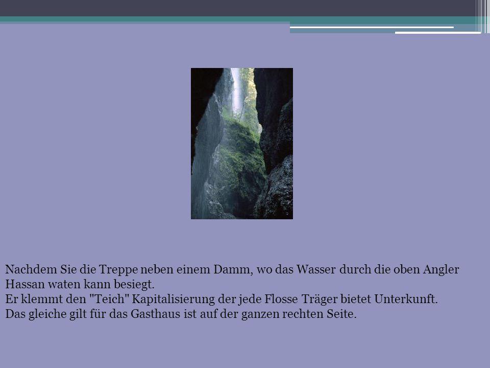 Nachdem Sie die Treppe neben einem Damm, wo das Wasser durch die oben Angler Hassan waten kann besiegt. Er klemmt den