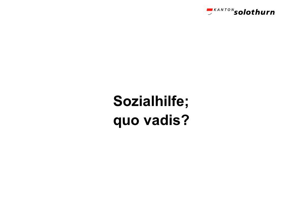 Sozialhilfe; quo vadis?