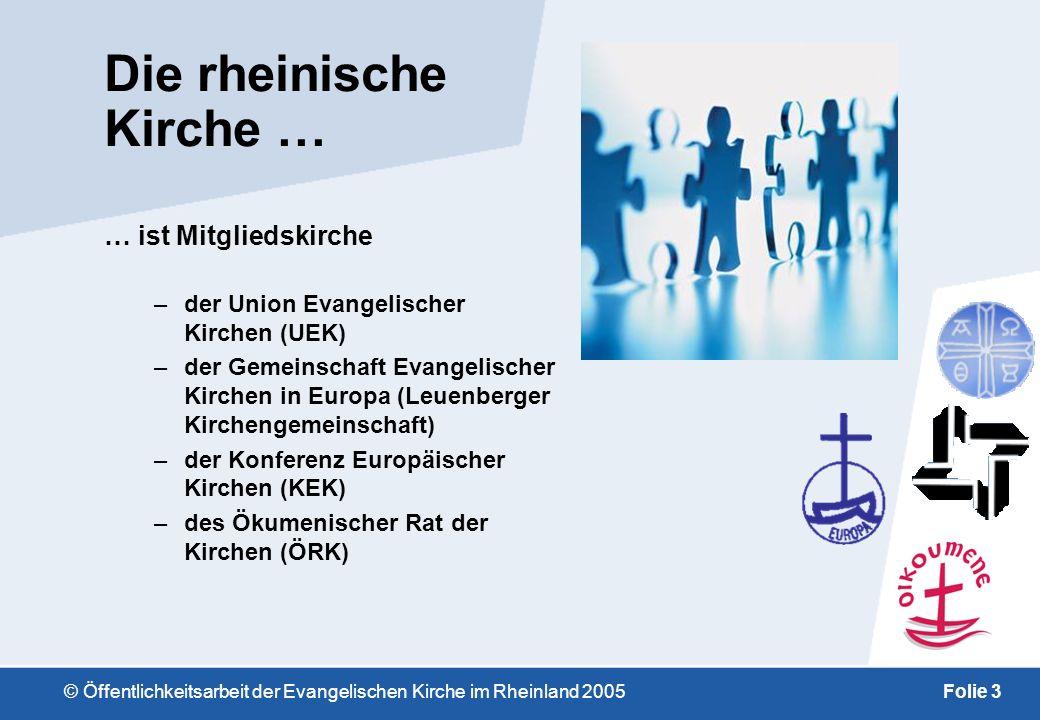 © Öffentlichkeitsarbeit der Evangelischen Kirche im Rheinland 2005Folie 13 Kleine Geschichte der evangelischen Kirche im Rheinland –Gerhard Tersteegen lebte und wirkte in Mülheim Gott ist gegenwärtig...