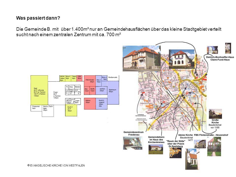 Was passiert dann? Die Gemeinde B. mit über 1.400m² nur an Gemeindehausflächen über das kleine Stadtgebiet verteilt sucht nach einem zentralen Zentrum
