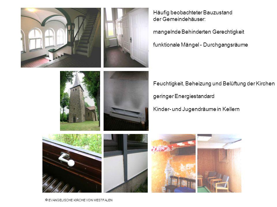 Häufig beobachteter Bauzustand der Gemeindehäuser: mangelnde Behinderten Gerechtigkeit funktionale Mängel - Durchgangsräume Feuchtigkeit, Beheizung un