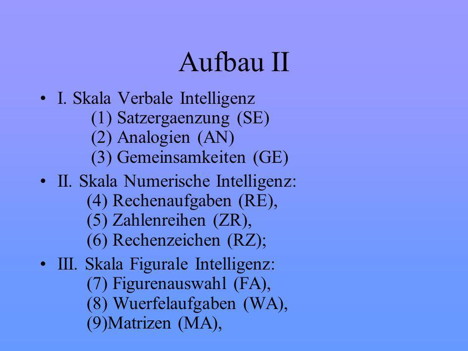 Aufbau II I.