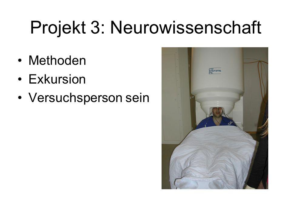 Projekt 3: Neurowissenschaft Methoden Exkursion Versuchsperson sein