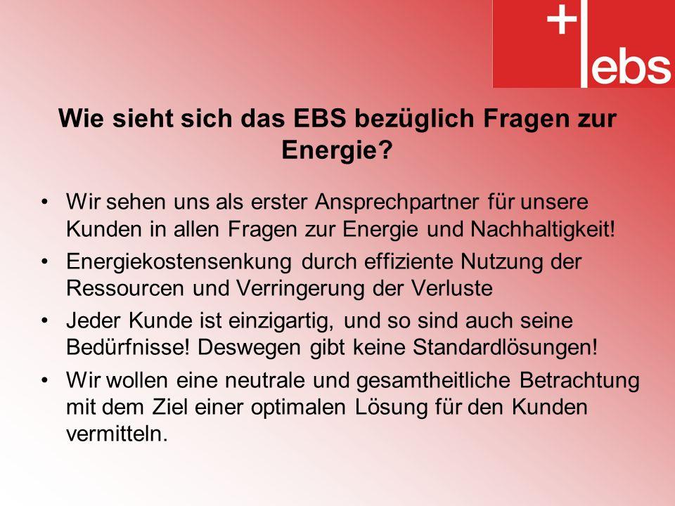 Wie sieht sich das EBS bezüglich Fragen zur Energie.