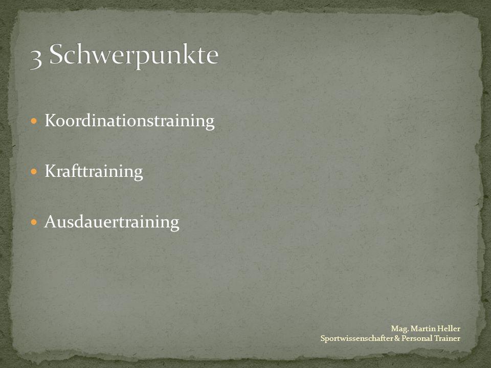 Mag. Martin Heller Sportwissenschafter & Personal Trainer Koordinationstraining Krafttraining Ausdauertraining