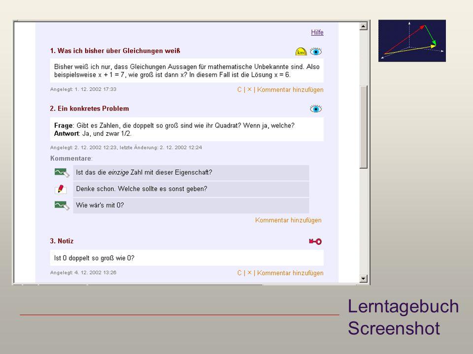 Lerntagebuch Screenshot