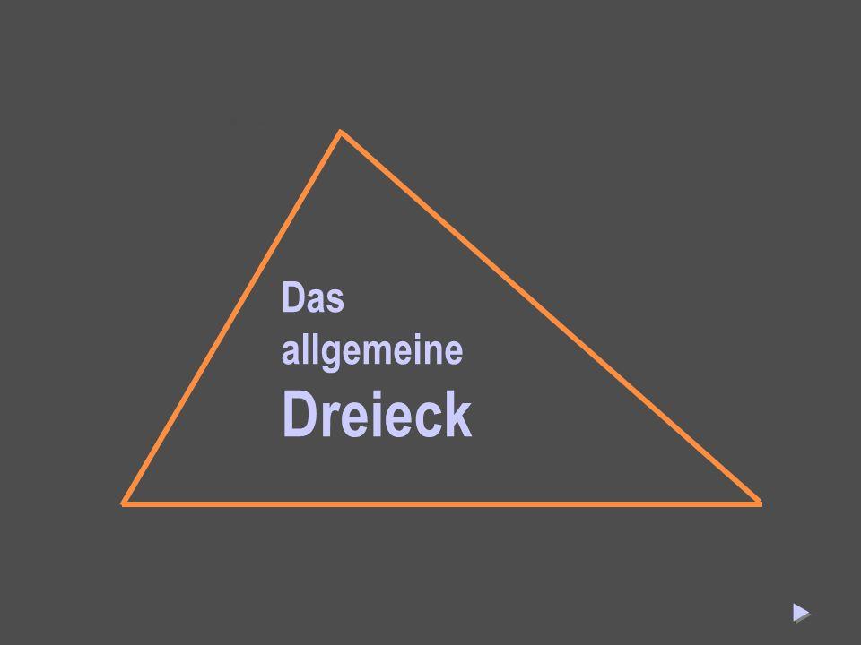 Das allgemeine Dreieck Das allgemeine Dreieck