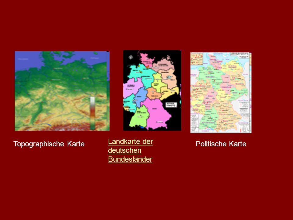 Topographische Karte Landkarte der deutschen Bundesländer Politische Karte