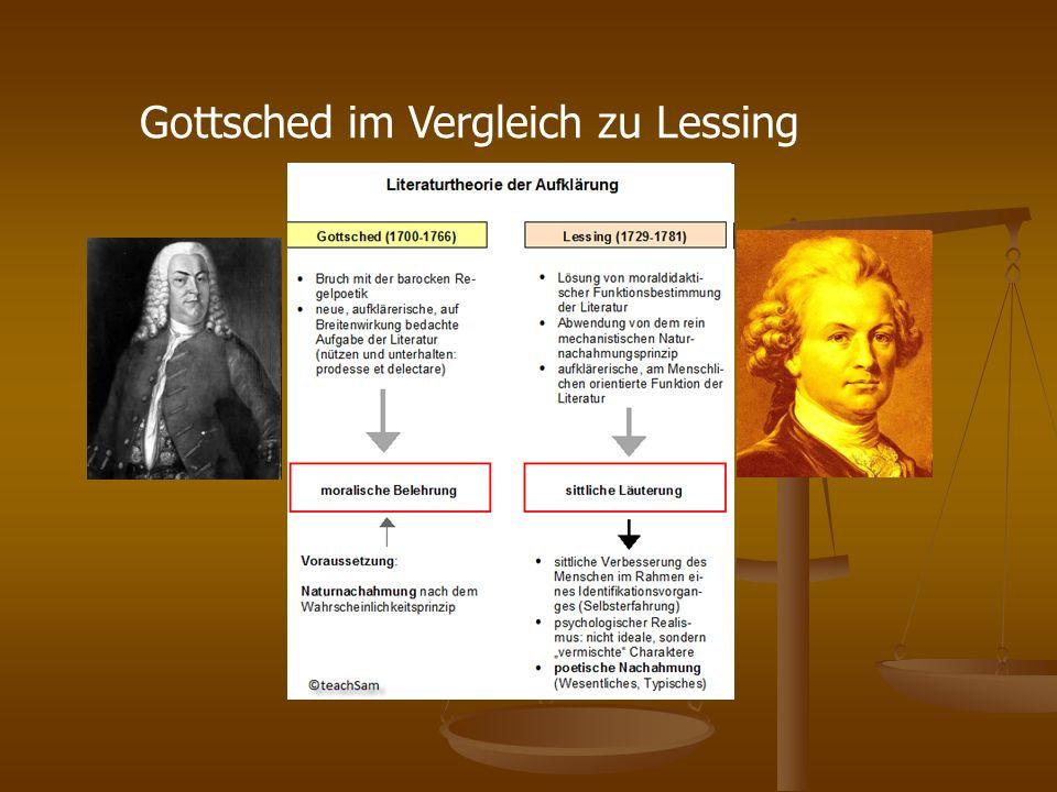 Gottsched im Vergleich zu Lessing